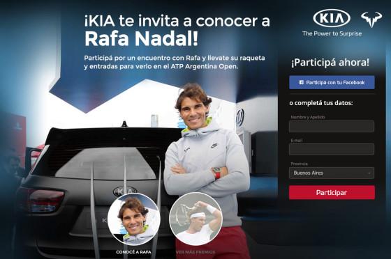 Autos y tenis: Kia Argentina lanzó una promo para conocer a Rafa Nadal