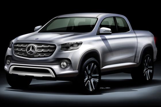 Boceto de una posible pick-up Mercedes-Benz