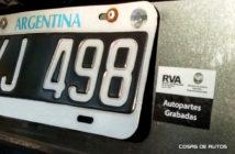 Autopartes grabadas - RVA
