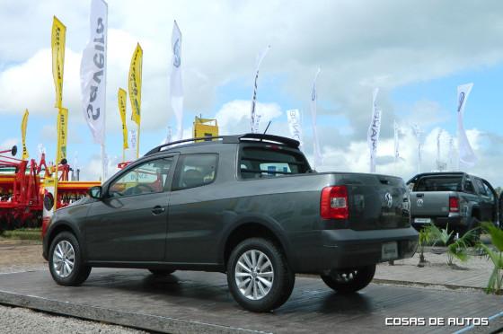 Saveiro en el stand de Volkswagen en ExpoAgro 2015