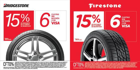 Neumáticos: en abril hay 15% de descuento en Bridgestone y Firestone