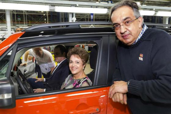 Rousseff y Marchionne, líderes y socios.