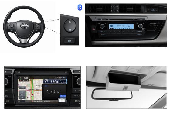 Algunos de los cambios del interior del ToyotaCorolla 2015