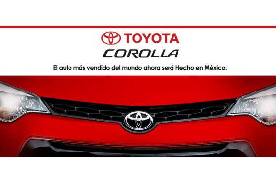 Toyota fabricará el Corolla en México
