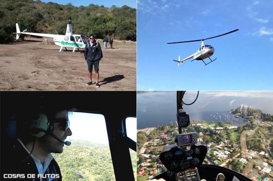 Vuelo en helicóptero sobre Carlos Paz