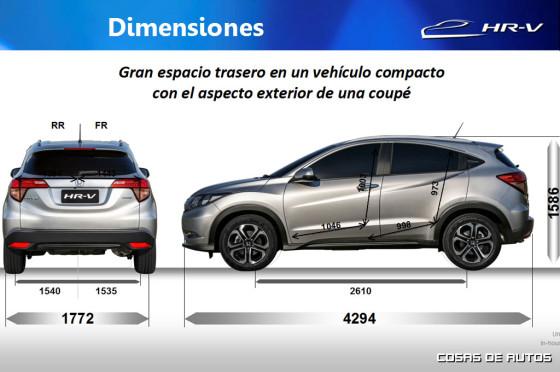 Medidas del Honda-HR-V