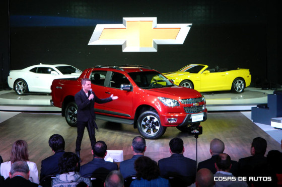 Stand de Chevrolet en el Salón de Buenos Aires