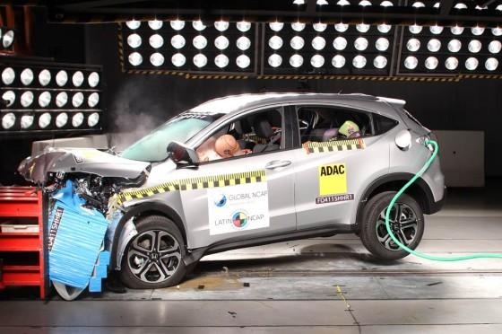 Honda HR-V logró las 5 estrellas Latin NCAP