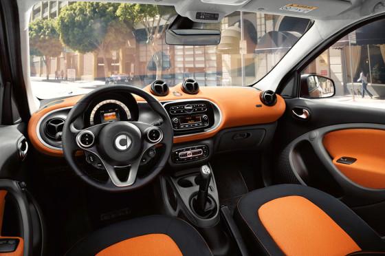 Interior del nuevo smart