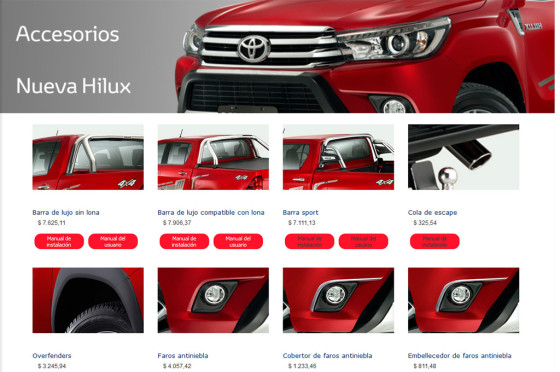 Accesorios para la Toyota Hilux