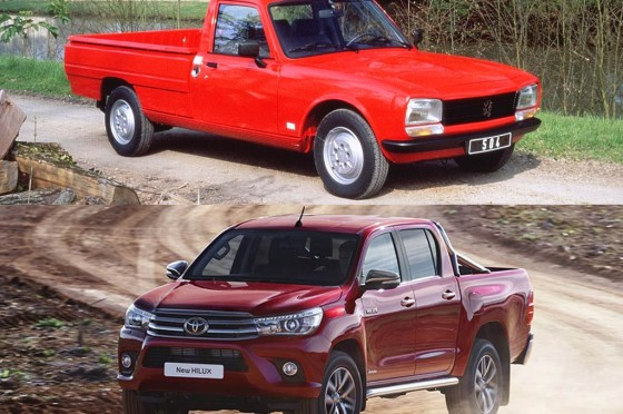 pick-up Peugeot Toyota