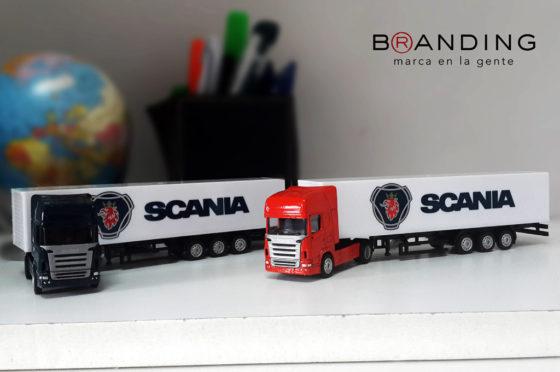 Branding Merchandising desarrolla miniaturas para Scania