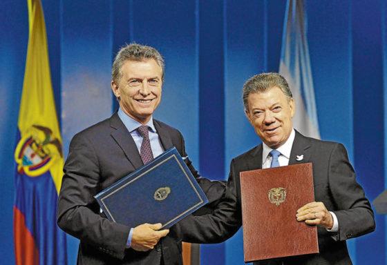 Macri y Santos
