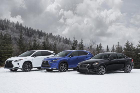 Lineup Lexus AWD 2016