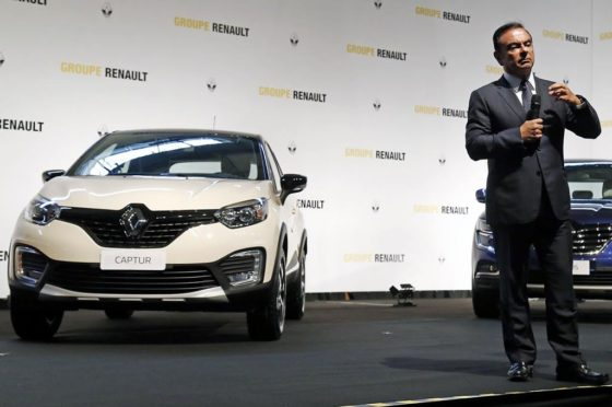 Renault Captur y Carlos Ghosn