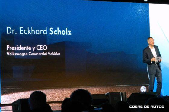 Eckhard Scholz, CEO de VW Vehículos Comerciales