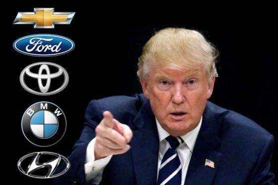 Trump versus las automotrices