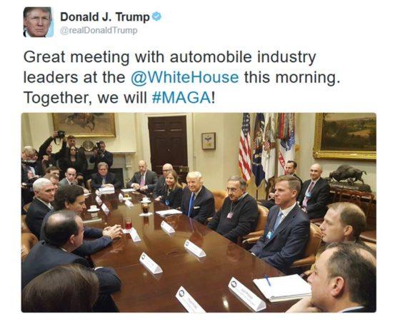 Donald Trump y los grandes de Detroit