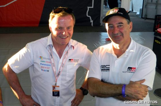 Herrero, presidente de Toyota Argentina, y Tommi Makinen