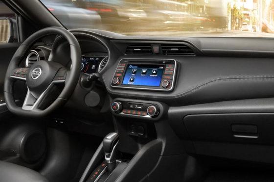 Interior del Nissan Kicks