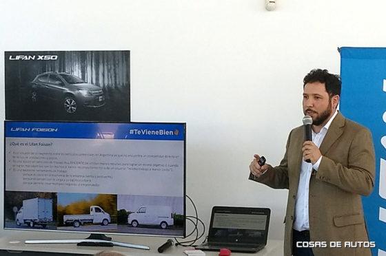 Roberto Alabés, responsable de MKT de Lifan Argentina