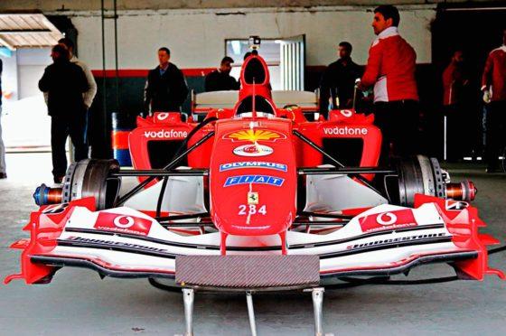 Pérez Companc giró con su Ferrari de Fórmula 1 en el Autódromo