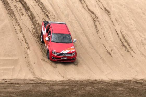 La VW Amarok es el vehículo de Seguridad de Playa en Pinamar