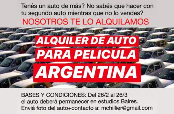 Alquiler Auto Cine argentino