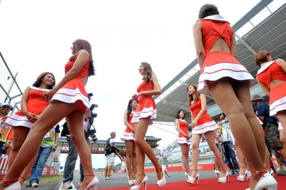 Grid girls en GP de Corea del Sur