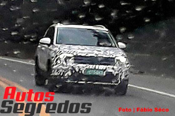 Una unidad de demo del VW Tarek fue vista en Brasil. Foto: Autos Segredos