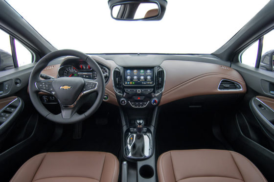 Interior del Chevrolet Cruze Premier