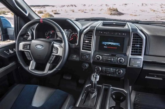 Interior de la Ford F-150 Raptor