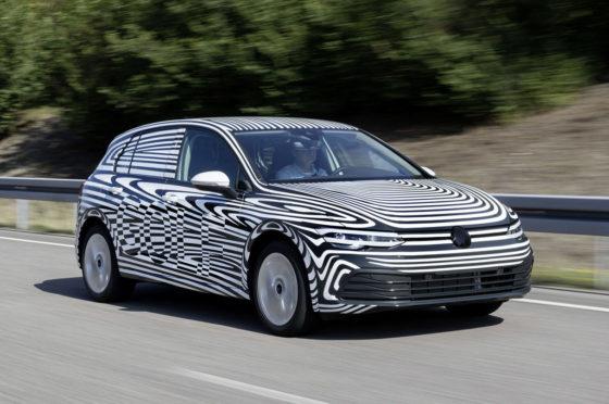 Mula de pruebas del VW Golf 2020