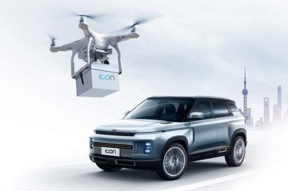 Geely Icon entrega vía drone