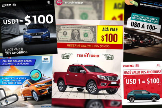 Concesionarios con dolar a 100 pesos