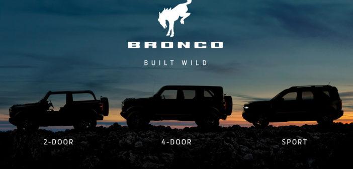 Ford presentó su línea Bronco: tres modelos off road y que llegaría a la Argentina