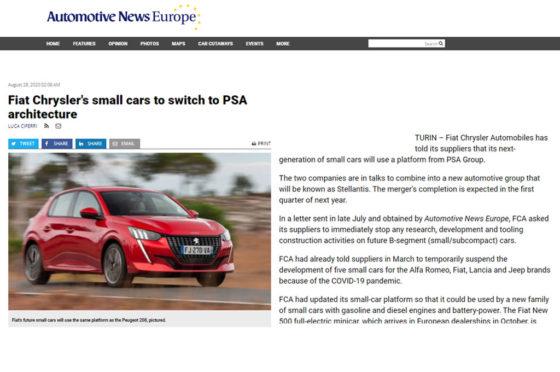 FCA CMP Automotive News
