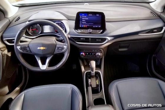Interior de la Chevrolet Tracker