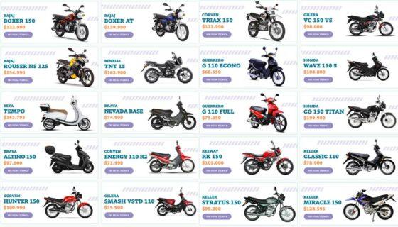 Plan Mi Moto - modelos