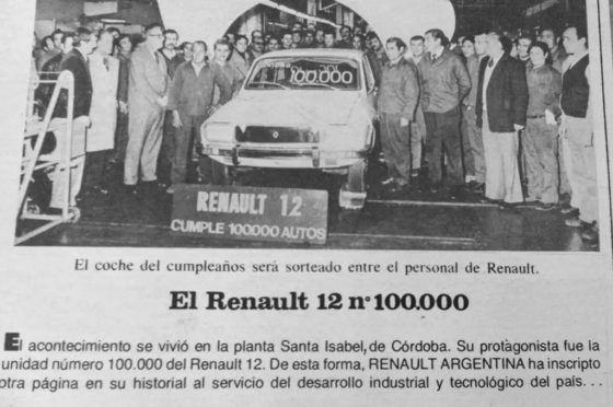 Renault 12 - 100 mil unidades