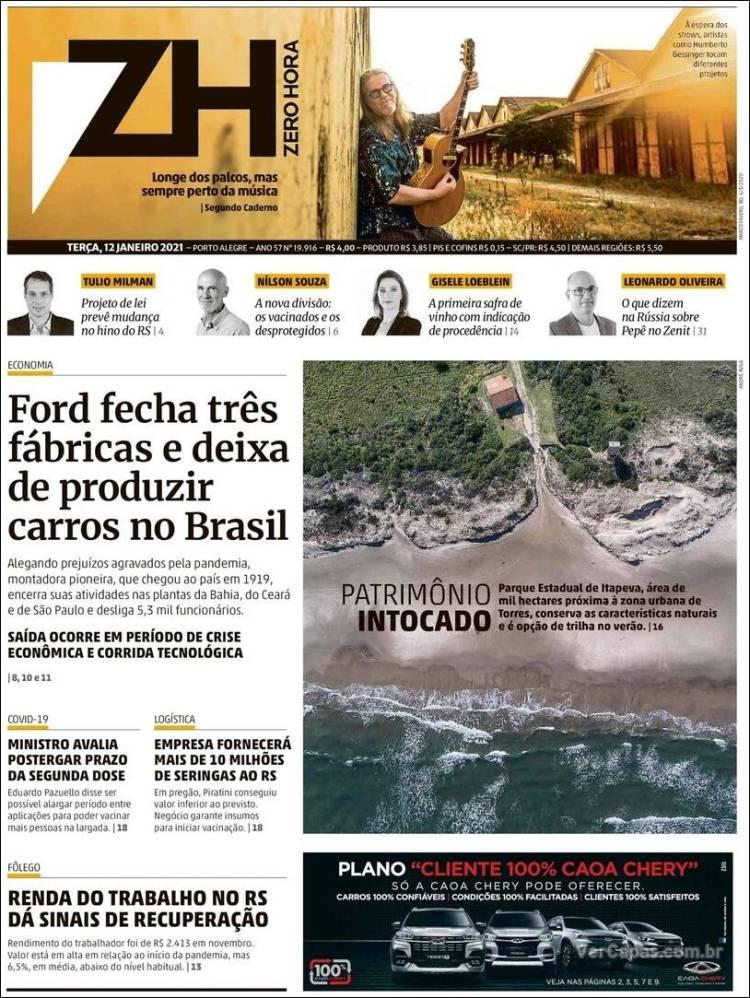 Zero hora - Rio Grande do Sul