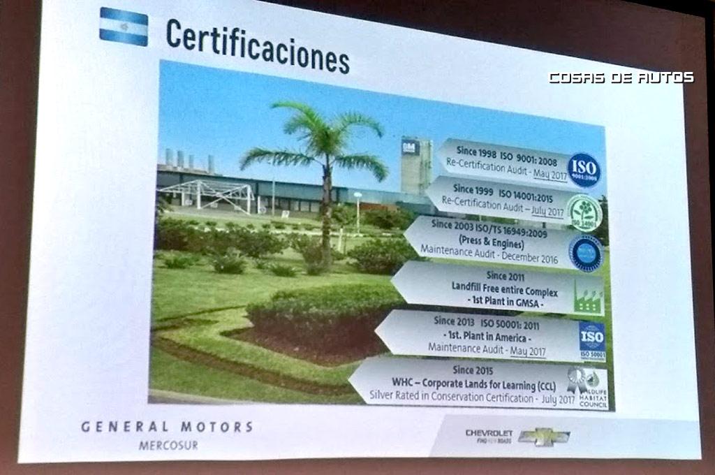 GM Planta Rosario Certificaciones