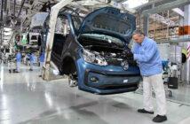 VW up - Línea de producción en Taubaté