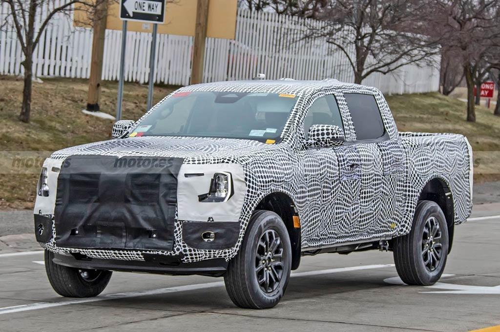 Mula de pruebas de la Ford Ranger 2023