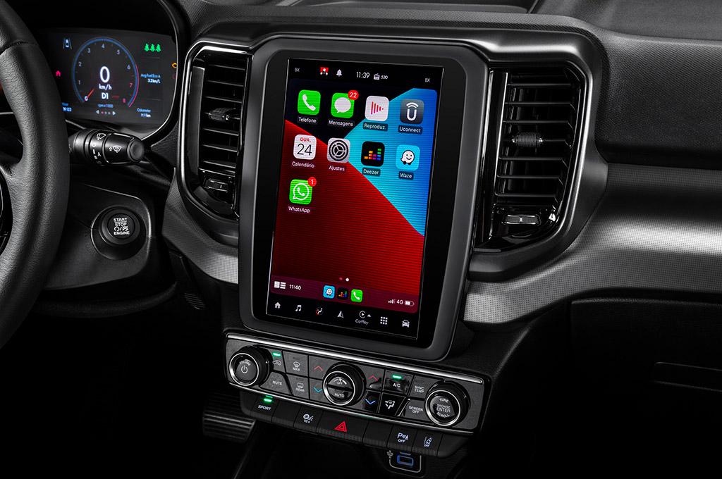 Interior de la Fiat Toro 2022
